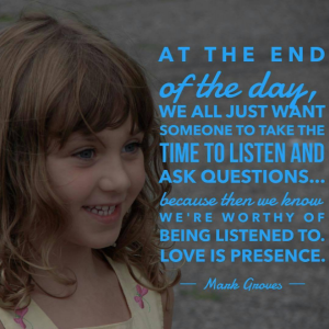 Being Present in the Lives of our Children