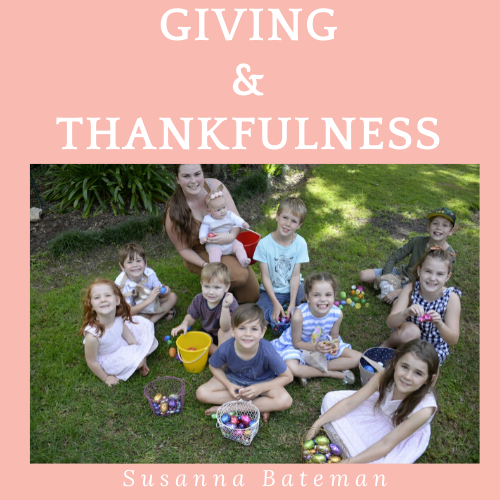 Giving and Thankfulness