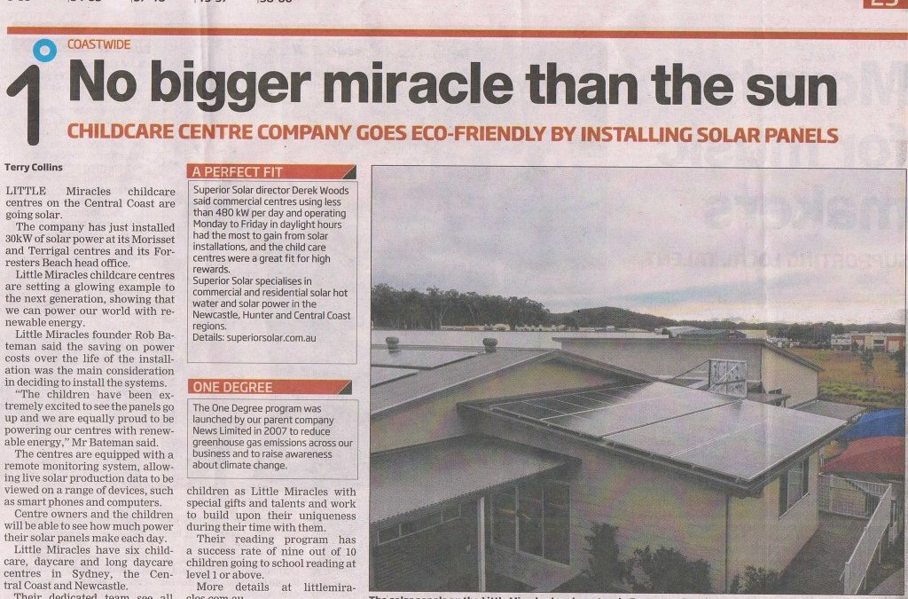 Little Miracles is going Solar!